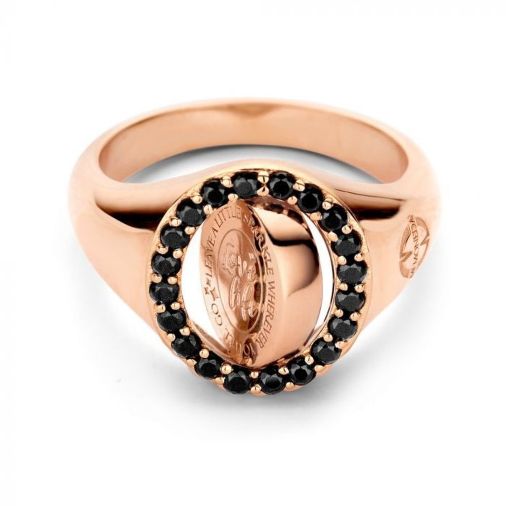 Mi Moneda Mi Moneda Vintage ring Lolita Oval Rosé Gold Plated
