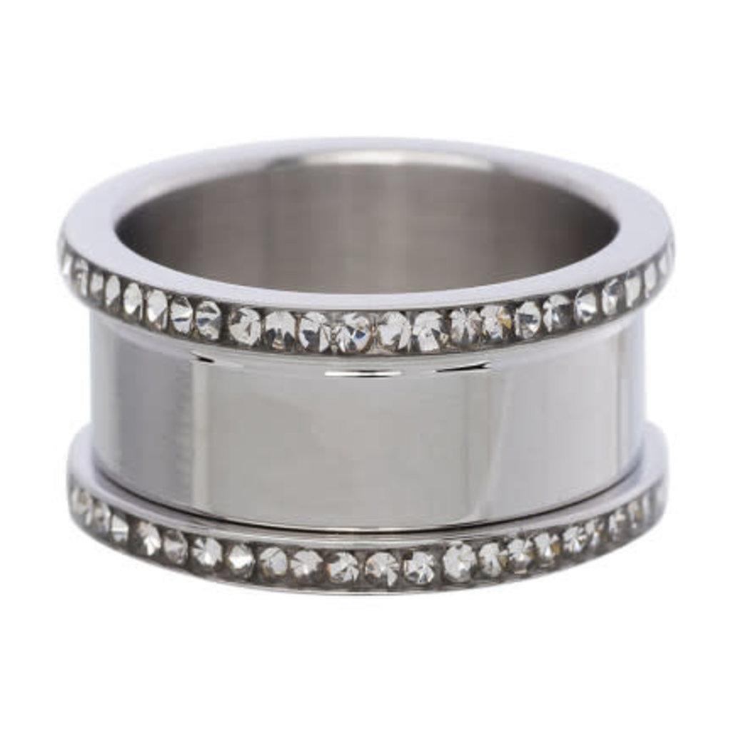 iXXXi Jewelry iXXXi basisring Zircoina 10 mm Stainless Steel