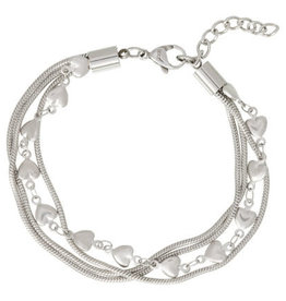 iXXXi Jewelry iXXXi enkelbandje Snake & Hearts Stainless Steel