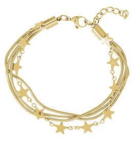 iXXXi Jewelry iXXXi enkelbandje Snake & Stars Gold Plated