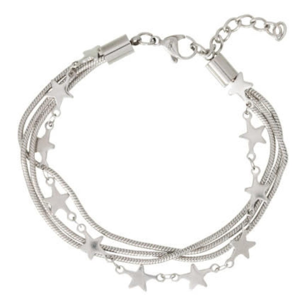 iXXXi Jewelry iXXXi armband Snake & Stars Stainless Steel