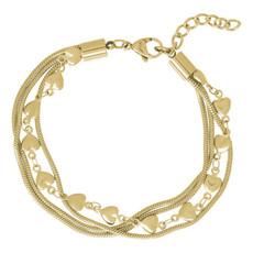 iXXXi Jewelry iXXXi armband Snake & Hearts Gold Plated