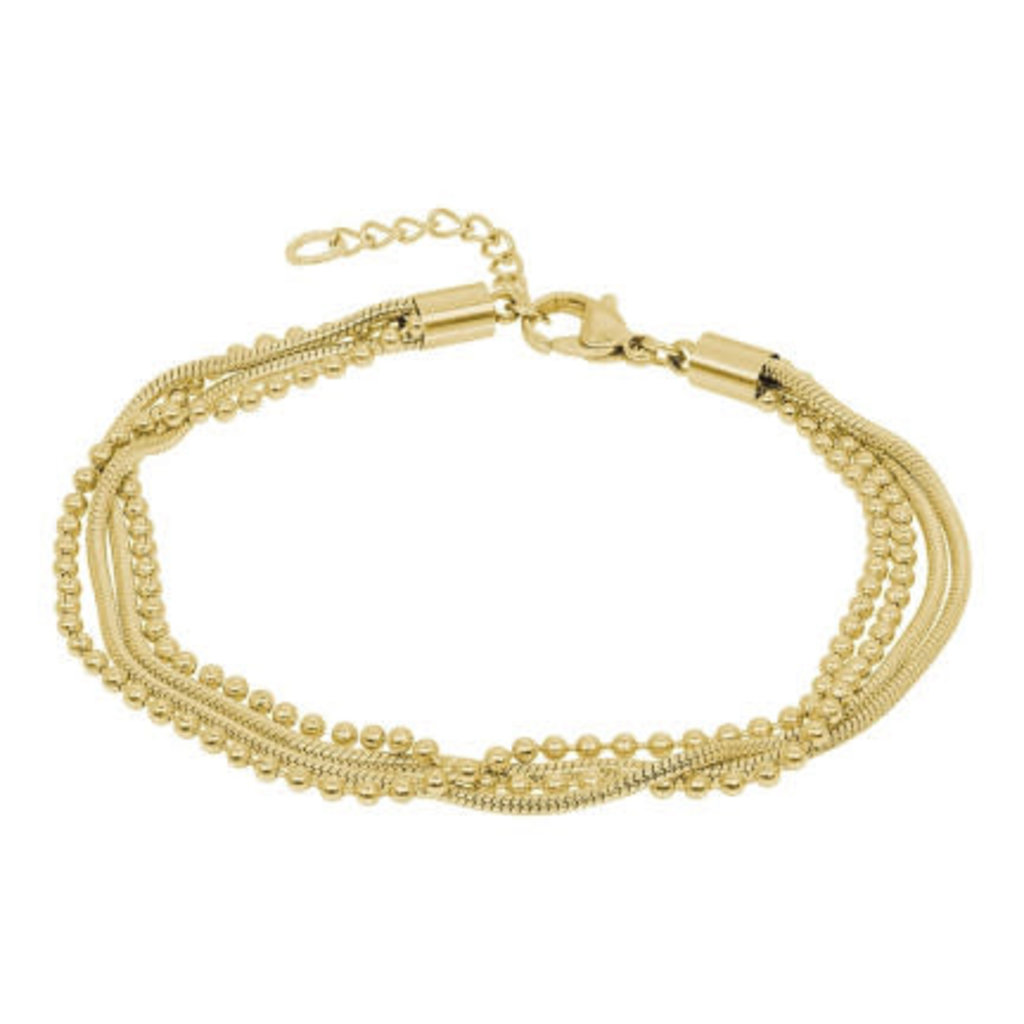 iXXXi Jewelry iXXXi armband Snake Ball Slim Gold Plated