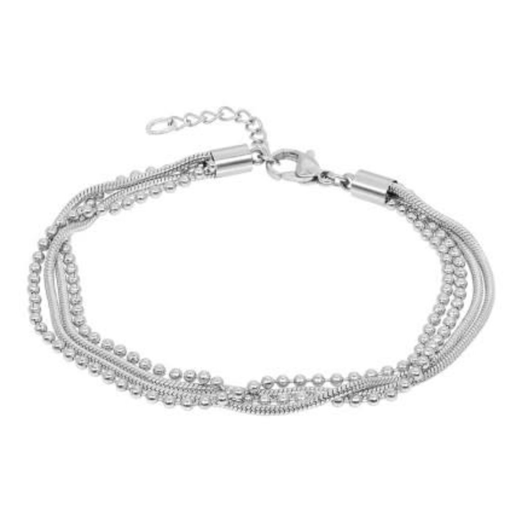 iXXXi Jewelry iXXXi armband Snake Ball Slim Stainless Steel
