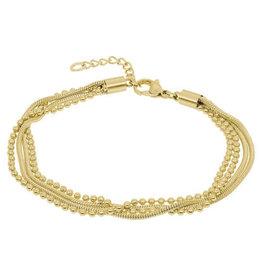 iXXXi Jewelry iXXXi enkelbandje Snake Ball Slim Gold Plated