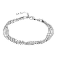 iXXXi Jewelry iXXXi enkelbandje Snake Ball Slim Stainless Steel