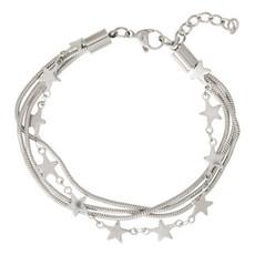 iXXXi Jewelry iXXXi enkelbandje Snake & Stars Stainless Steel