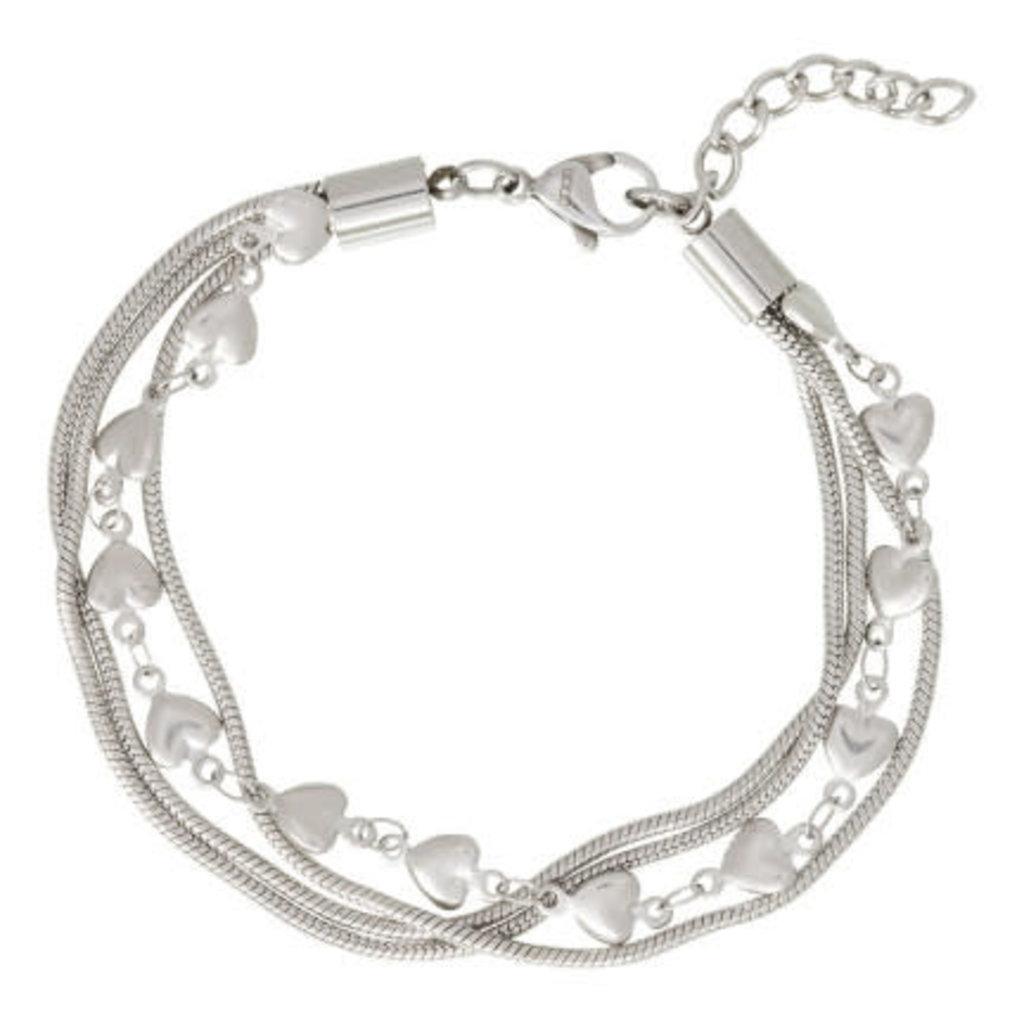 iXXXi Jewelry iXXXi armband Snake & Hearts Stainless Steel