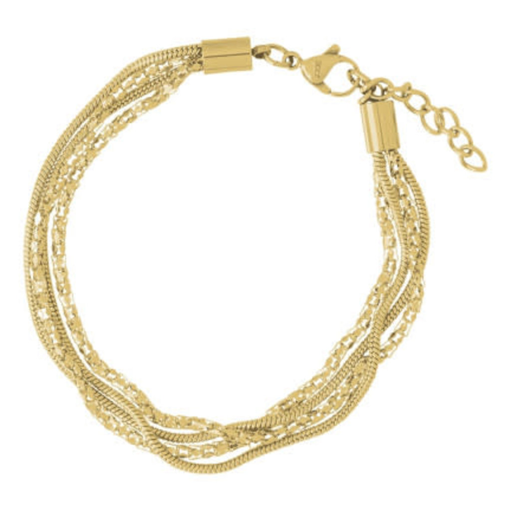 iXXXi Jewelry iXXXi armband Snake & Popcorn Gold Plated