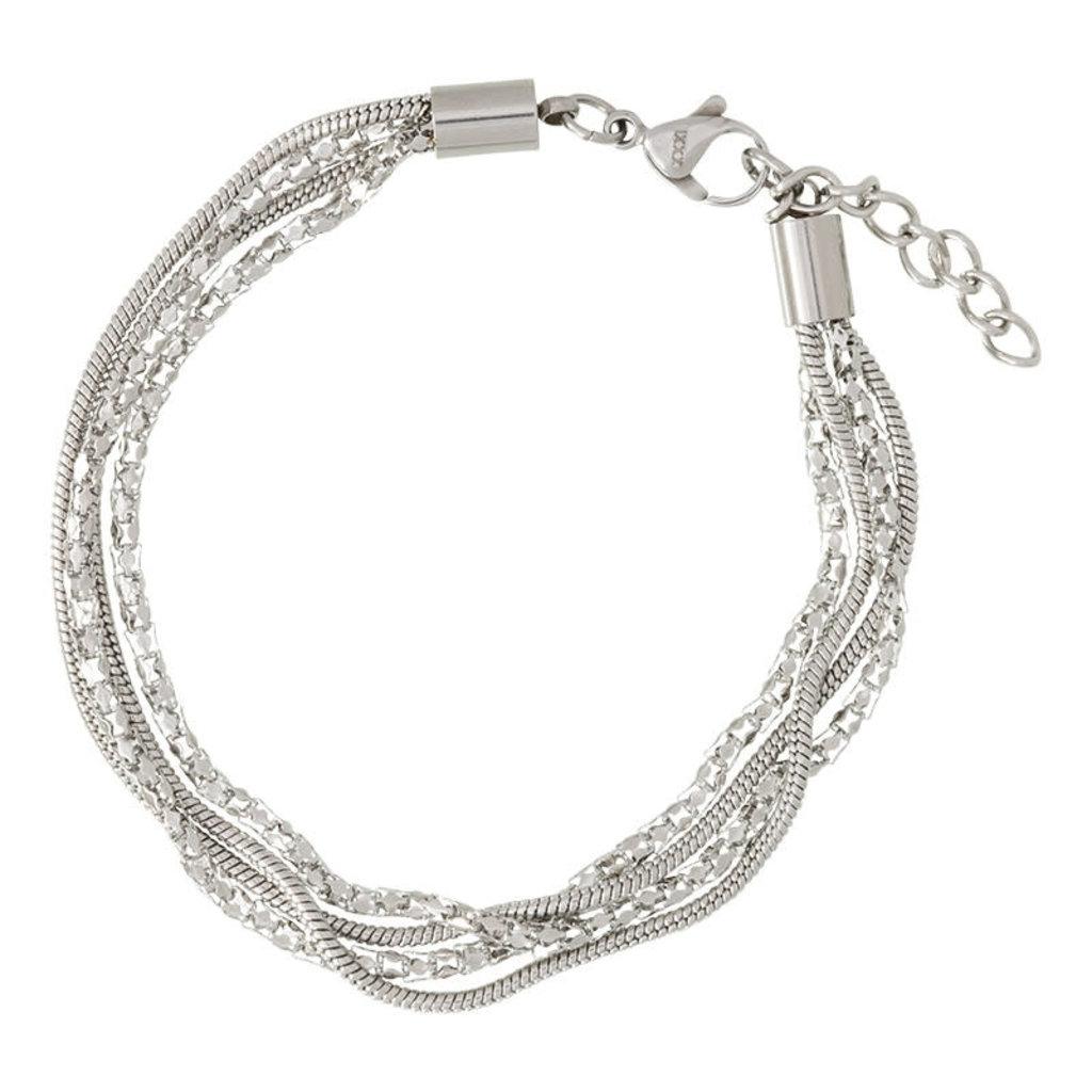 iXXXi Jewelry iXXXi armband Snake & Popcorn Stainless Steel