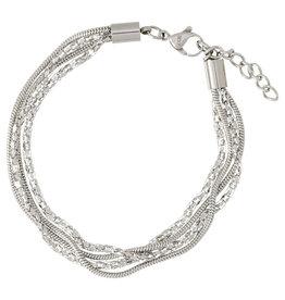 iXXXi Jewelry iXXXi enkelbandje Snake & Popcorn Stainless Steel