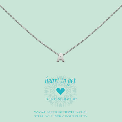 Heart to Get Heart for Initials hanger Letter Silver