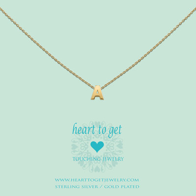 Heart to Get Heart for Initials hanger Letter Gold Plated