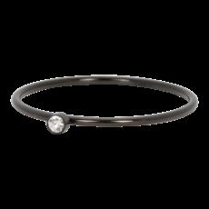 iXXXi Jewelry iXXXi vulring 1 mm Zirconia Stone Crystal Black R03905-05