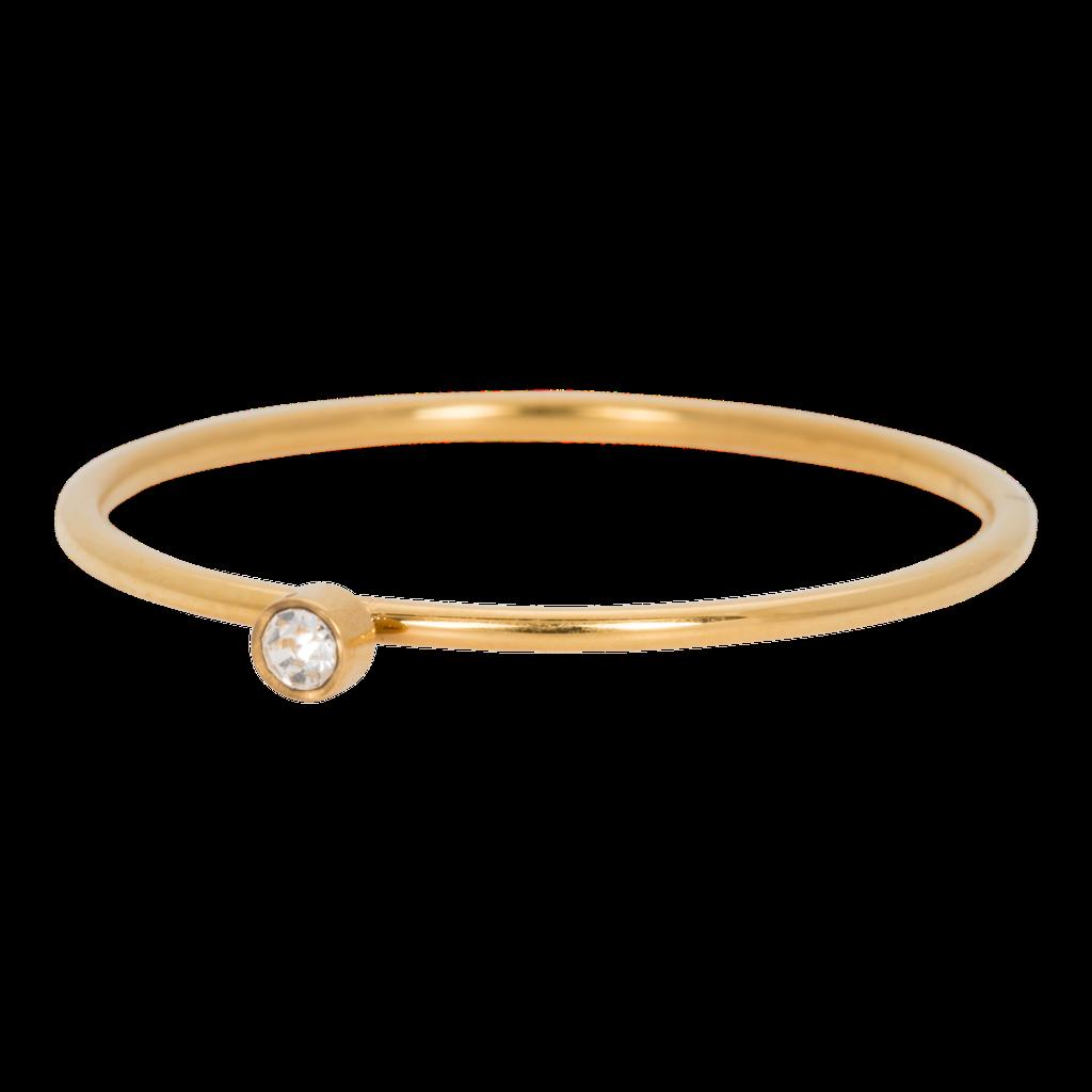 iXXXi Jewelry iXXXi vulring 1 mm Zirconia Stone Crystal Gold Plated R03905-01