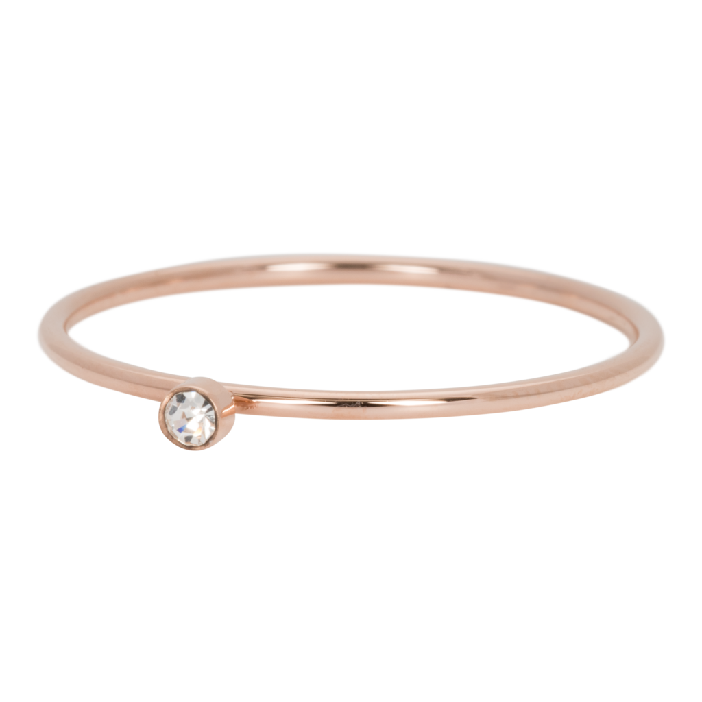 iXXXi Jewelry iXXXi vulring 1 mm Zirconia Stone Crystal Rosé Gold Plated R03905-02