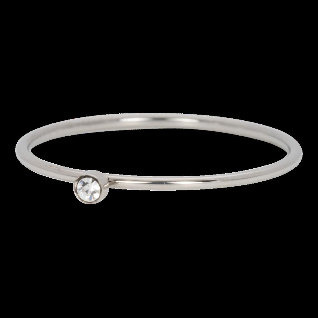 iXXXi Jewelry iXXXi vulring 1 mm Zirconia Stone Crystal Stainless Steel R03905-03