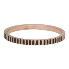 iXXXi Jewelry iXXXi vulring 2 mm Cartels Matt Rosé Gold Plated Fill In R02814-17