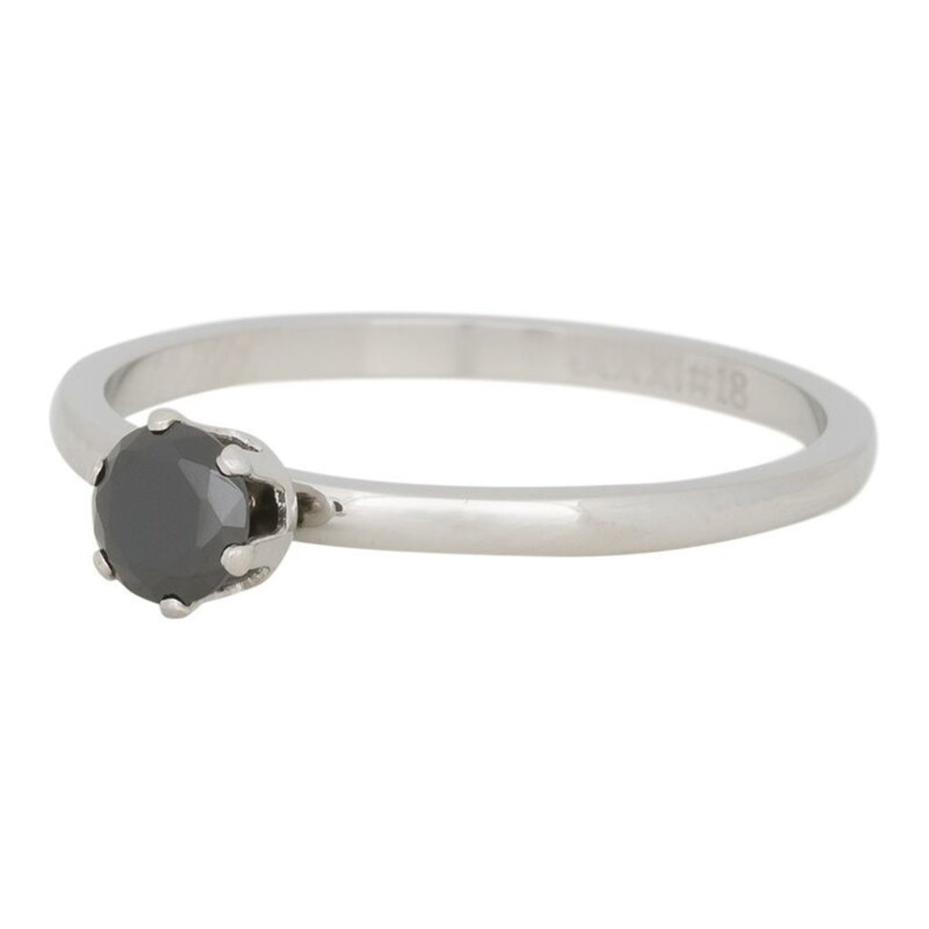 iXXXi Jewelry iXXXi vulring 2 mm Crown Black Diamond Stainless Steel R04205-03