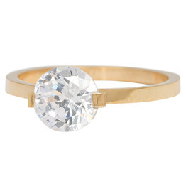 iXXXi Jewelry iXXXi vulring 2 mm Glamour Stone Crystal Gold Plated R04201-01