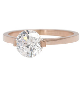 iXXXi Jewelry iXXXi vulring 2 mm Glamour Stone Crystal Rosé Gold Plated R04201-02