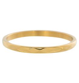 iXXXi Jewelry iXXXi vulring 2 mm Hammerite Gold Plated R02803-01