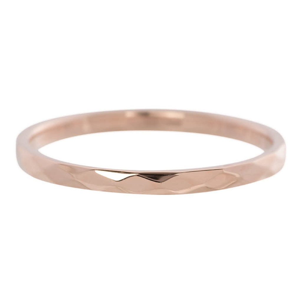 iXXXi Jewelry iXXXi vulring 2 mm Hammerite Rosé Gold Plated R02803-02