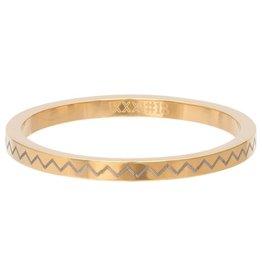 iXXXi Jewelry iXXXi vulring 2 mm Heartbeat Gold Plated R02816-01
