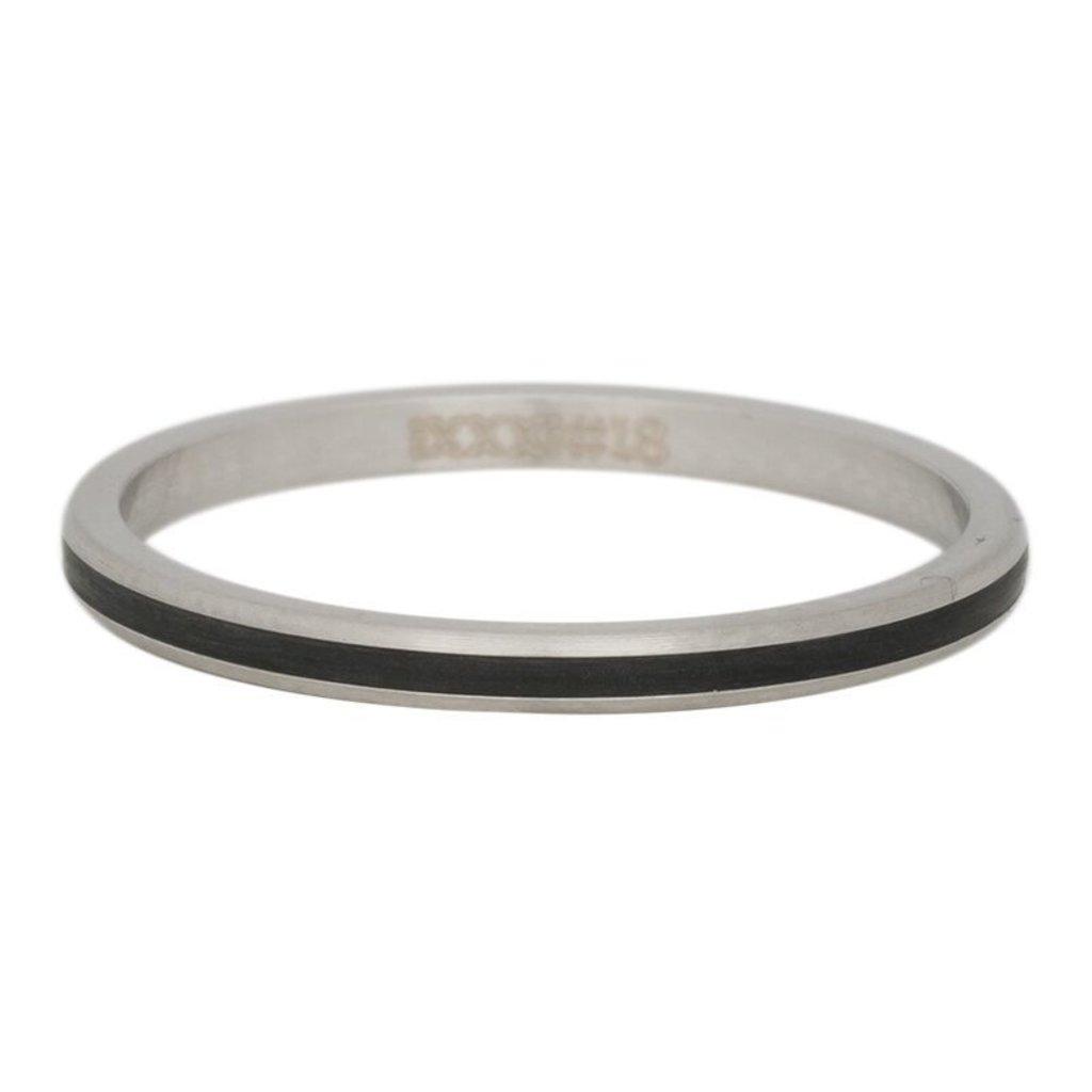 iXXXi Jewelry iXXXi vulring 2 mm Line Black Matt R02306-04