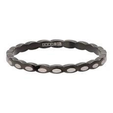 iXXXi Jewelry iXXXi vulring 2 mm Oval Shape Black R02815-05