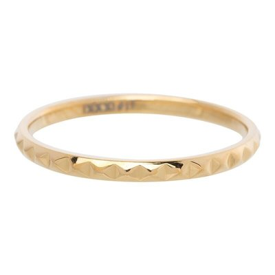 iXXXi Jewelry iXXXi vulring 2 mm Pyramid Gold Plated R02804-01