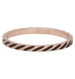 iXXXi Jewelry iXXXi vulring 2 mm Slanting Stripes Matt Rosé Gold Plated Fill In R02812-17