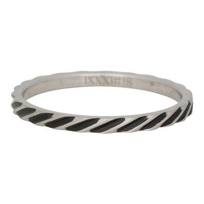iXXXi Jewelry iXXXi vulring 2 mm Slanting Stripes Matt Stainless Steel Fill In R02812-18