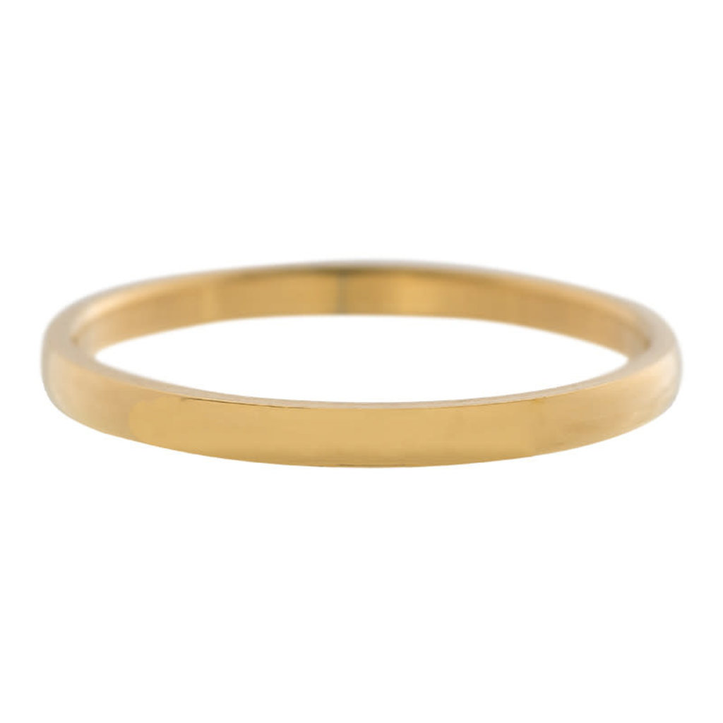iXXXi Jewelry iXXXi vulring 2 mm Small Smooth Gold Plated R02301-01