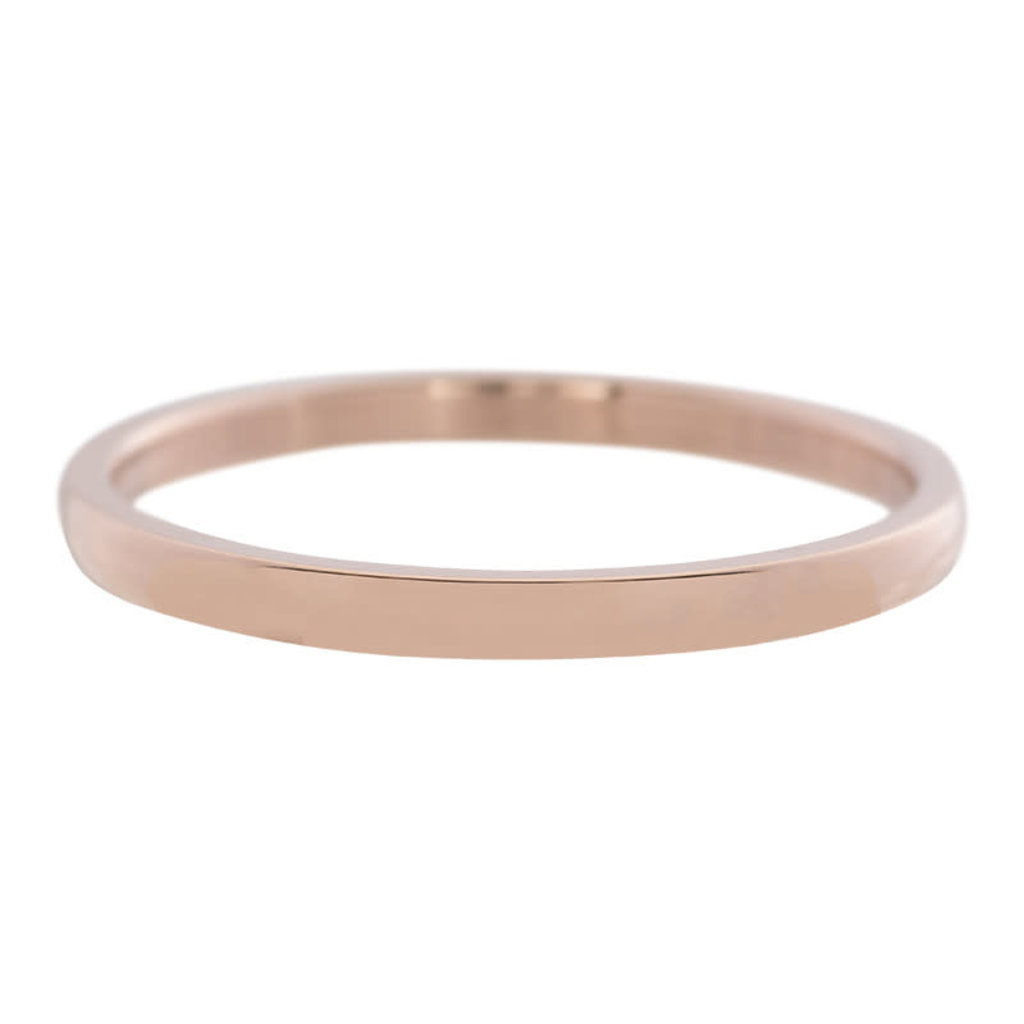 iXXXi Jewelry iXXXi vulring 2 mm Small Smooth Rosé Gold Plated R02301-02