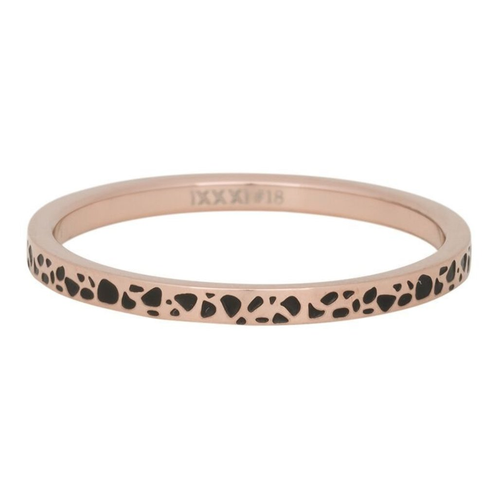 iXXXi Jewelry iXXXi vulring 2 mm Spots Rosé Gold Plated Fill In R02813-17