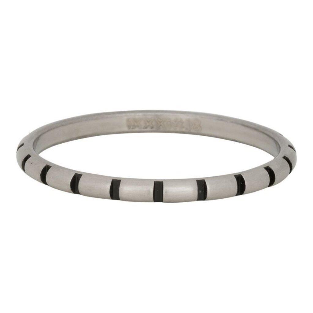 iXXXi Jewelry iXXXi vulring 2 mm Stripes Matt Stainless Steel Fill In R02811-18