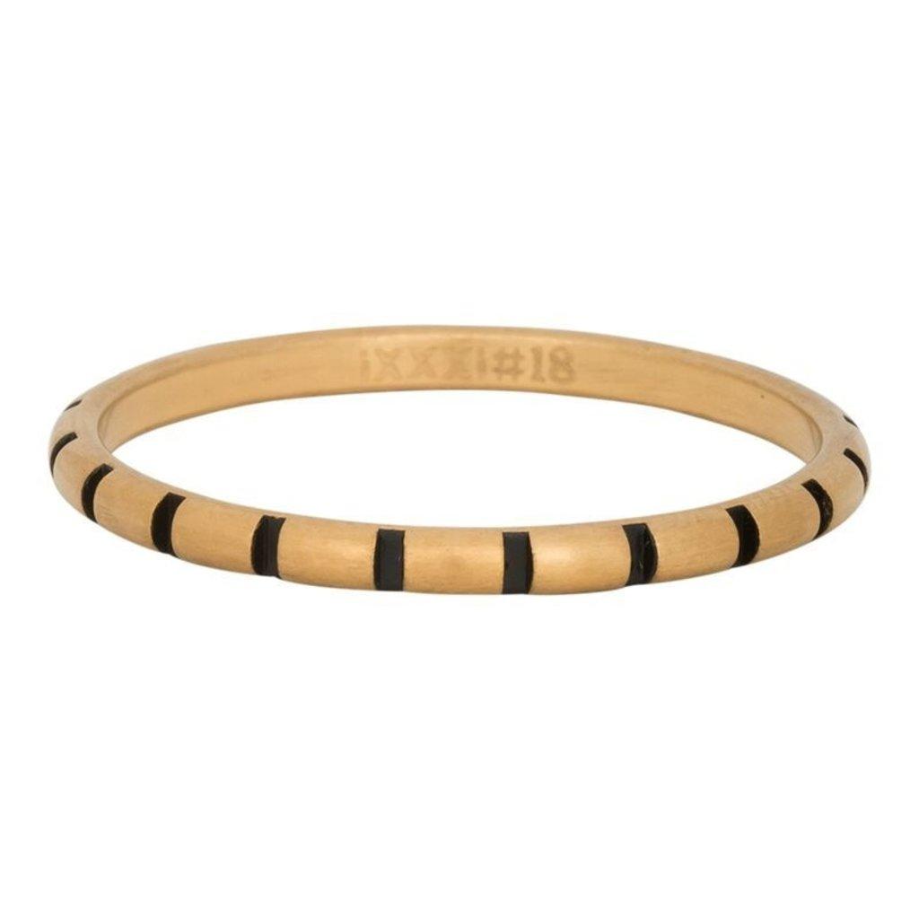 iXXXi Jewelry iXXXi vulring 2 mm Stripes Matt Gold Plated Fill In R02811-16