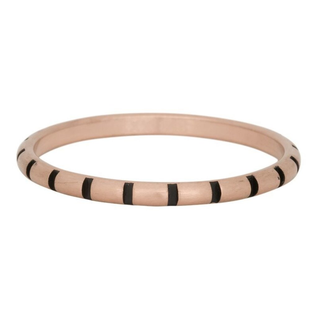 iXXXi Jewelry iXXXi vulring 2 mm Stripes Matt Rosé Gold Plated Fill In R02811-17