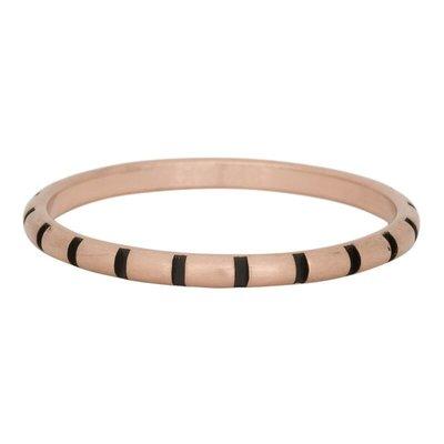 iXXXi Jewelry iXXXi vulring 2 mm Stripes Matt Rosé Gold Plated Fill In R02811-17
