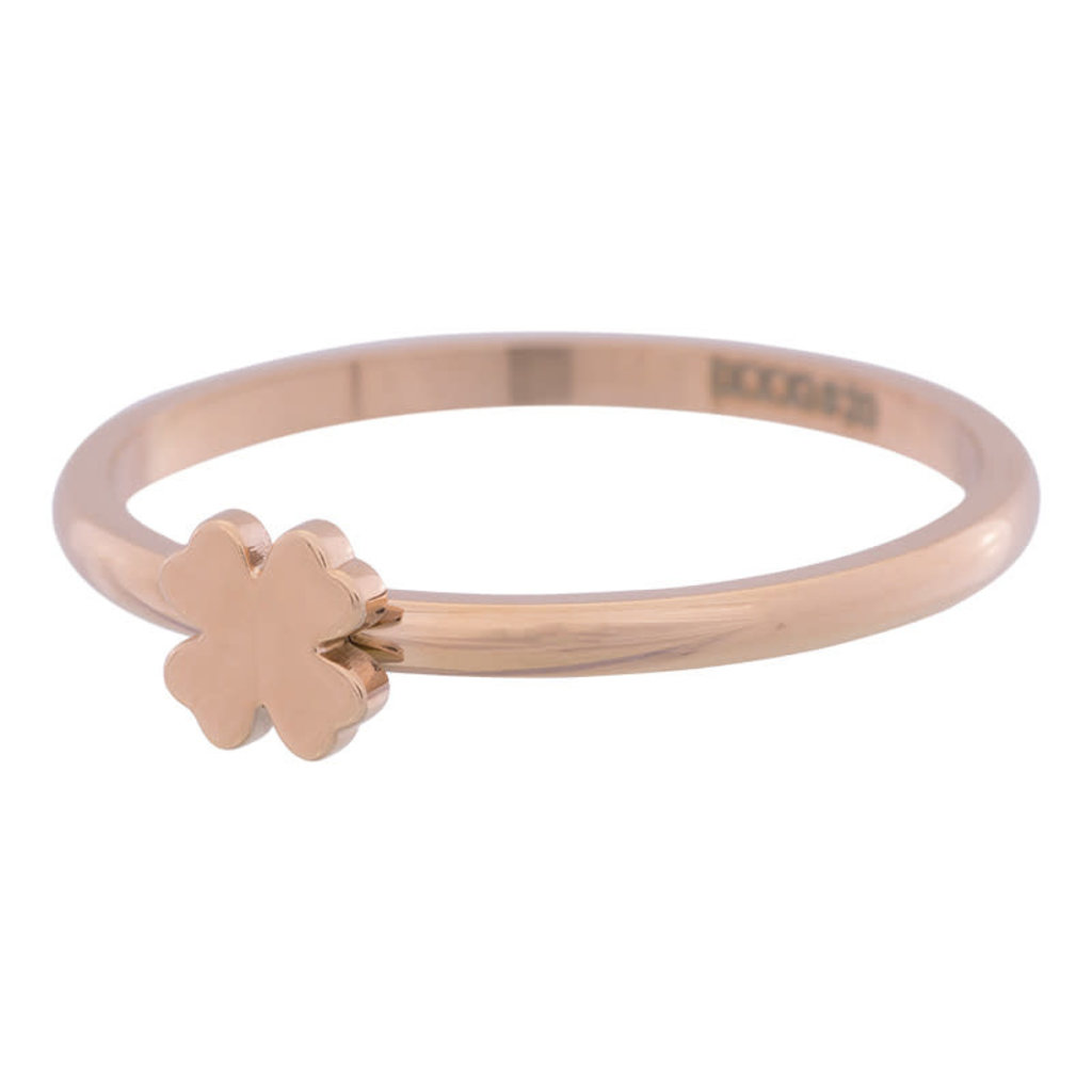 iXXXi Jewelry iXXXi vulring 2 mm Symbol Clover Rosé Gold Plated R03502-02