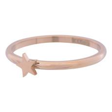 iXXXi Jewelry iXXXi vulring 2 mm Symbol Star Rosé Gold Plated R03504-02