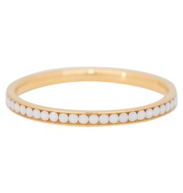 iXXXi Jewelry iXXXi vulring 2 mm White Stone Gold Plated R02518-01