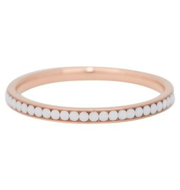 iXXXi Jewelry iXXXi vulring 2 mm White Stone Rosé Gold Plated R02518-02