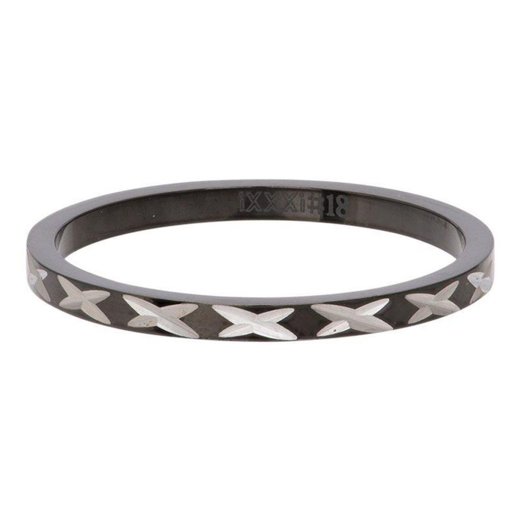iXXXi Jewelry iXXXi vulring 2 mm X Row Black R02817-05