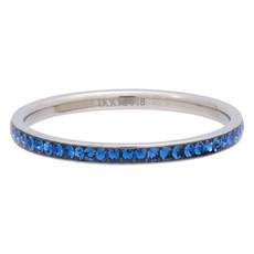 iXXXi Jewelry iXXXi vulring 2 mm Zirconia Capri Blue Stainless Steel R02521-03