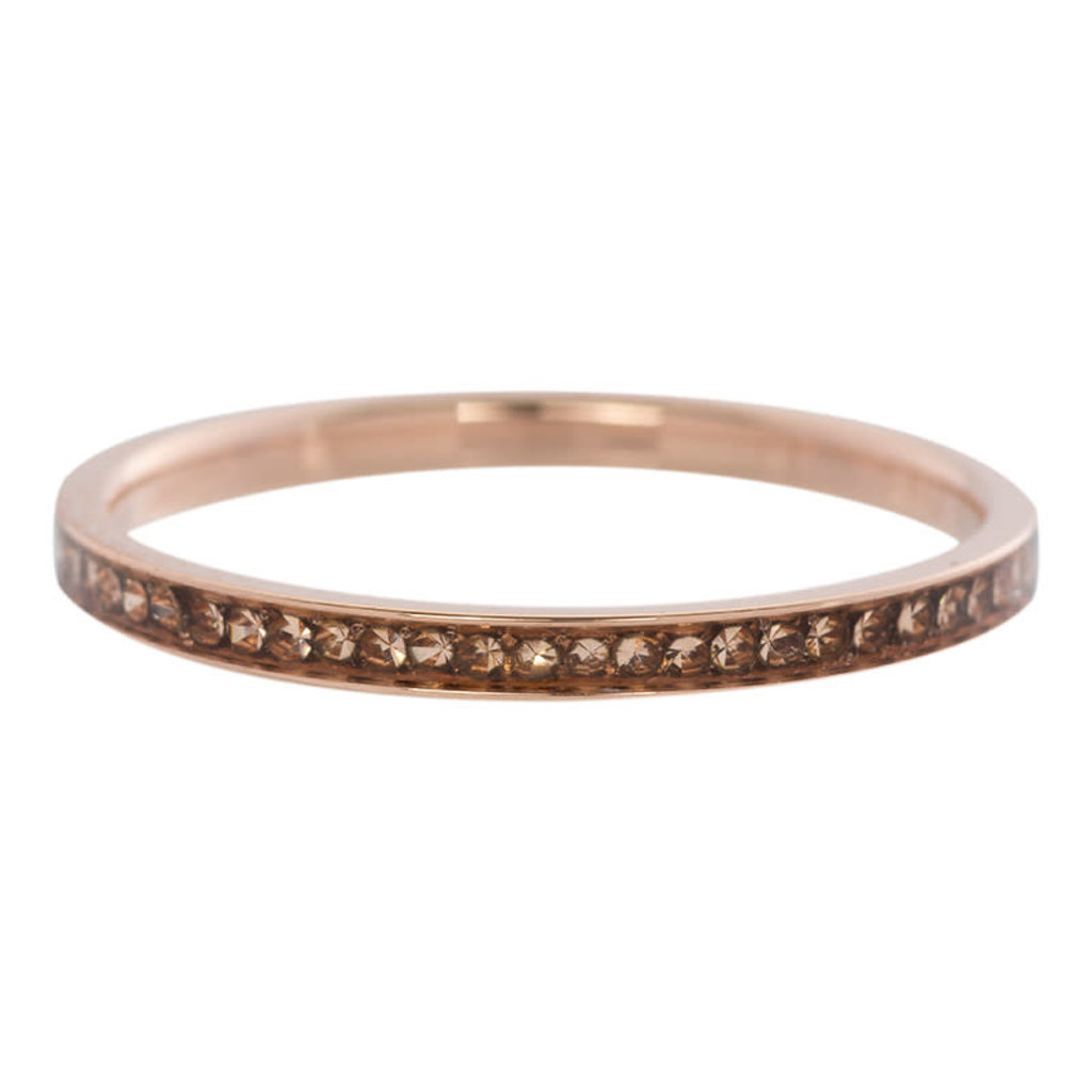 iXXXi Jewelry iXXXi vulring 2 mm Zirconia Champagne Rosé Gold Plated R02503-02