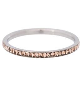 iXXXi Jewelry iXXXi vulring 2 mm Zirconia Gold Quartz Stainless Steel R02511-03