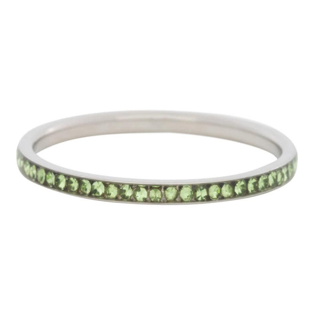 iXXXi Jewelry iXXXi vulring 2 mm Zirconia Peridot Stainless Steel R02515-03