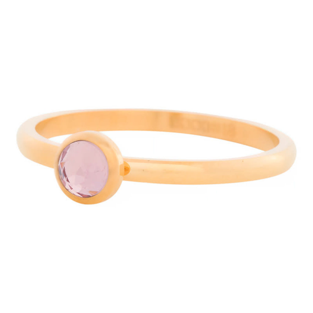 iXXXi Jewelry iXXXi vulring 2 mm Zirconia Stone Pink Gold Plated R04107-01
